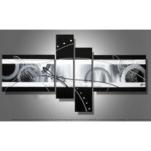 Abstract 4 Piece Painting on Canvas Set by Design Art