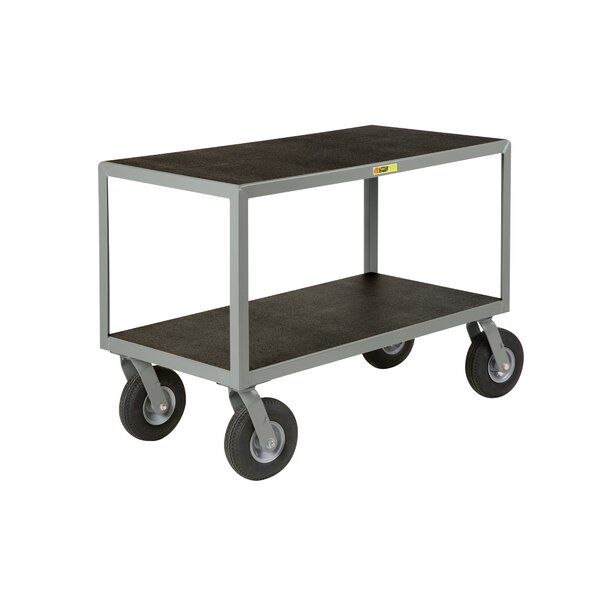 24 x 48 Mobile Instrument Table Utility Cart with Non-Slip Vinyl Shelf Surface by Little Giant USA