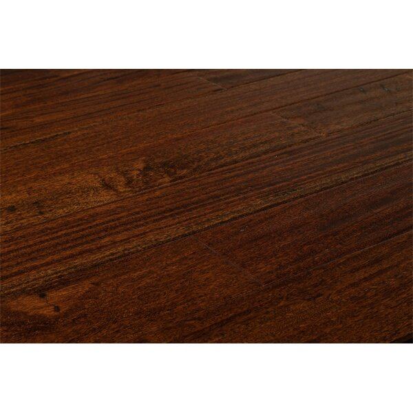 Ashton 5 Solid Teak Hardwood in Brown Stone by Welles Hardwood