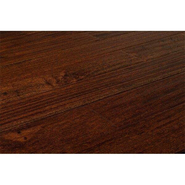 Ashton 5 Solid Teak Hardwood in Brown Stone by Welles Hardwood