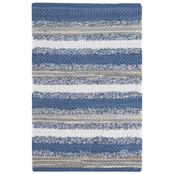 Monaca Hand-Woven Blue/Gray Area Rug by Gracie Oaks