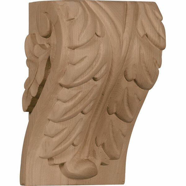 Acanthus 6H x 3 3/4W x 3 1/4D Large Leaf Block Corbel in Cherry by Ekena Millwork