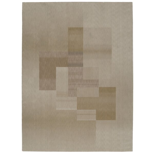 Loom Select Overlay Beige Area Rug by Calvin Klein
