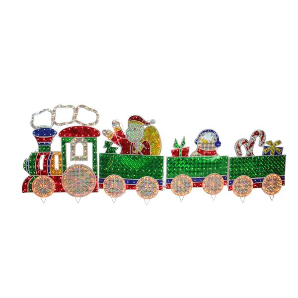 Holographic Motion Train Christmas Lighting Display (Set of 4) by The Holiday Aisle