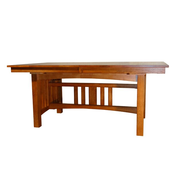 Taj Solid Oak Mission Solid Wood Dining Table by Loon Peak Loon Peak