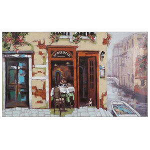 Revealed Artwork Venitian Canal Painting on Wrapped Canvas by Yosemite Home Decor