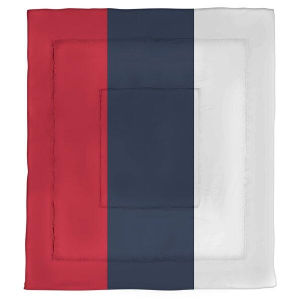 College Stripes Mississippi Rebellion Microfiber Single Reversible Comforter