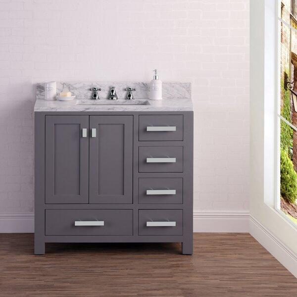 Coates 36 Cashmere Single Bathroom Vanity Set by Ebern Designs