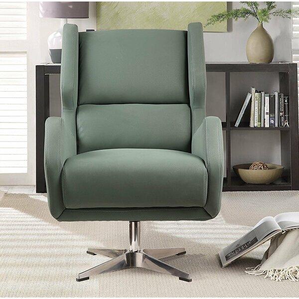 Laffoon Swivel Wingback Chair by Brayden Studio