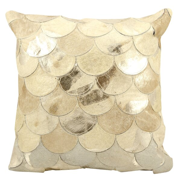 Rollinsford Leather Throw Pillow by Rosecliff Heights