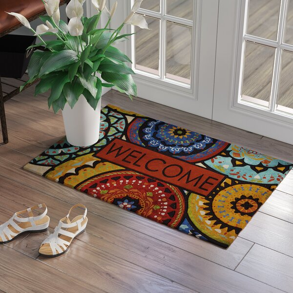 Vanderhide Spanish Suzani Welcome Doorscapes Estate Doormat by Red Barrel Studio