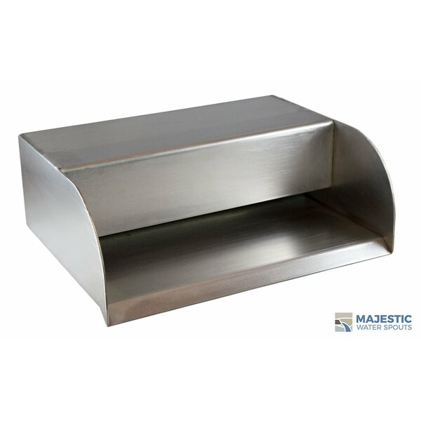 Picard Stainless Steel Step Scupper by Majestic Water Spouts