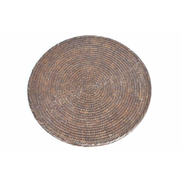Rattan Round Placemat by artifacts trading