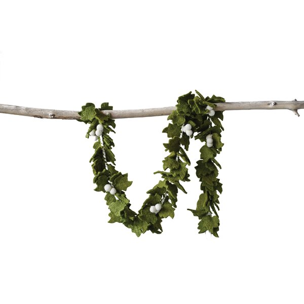 Leaves Wool Felt Garland by The Holiday Aisle