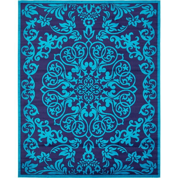 Alford Turquoise Area Rug by Bungalow Rose
