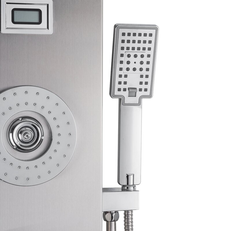 AKDY Rainfall Waterfall Stainless Steel Multi-Function Fixed ...
