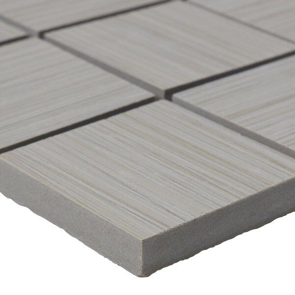 Fabrique 12 x 12 Porcelain Wood Look Tile in Crème Linen by Daltile