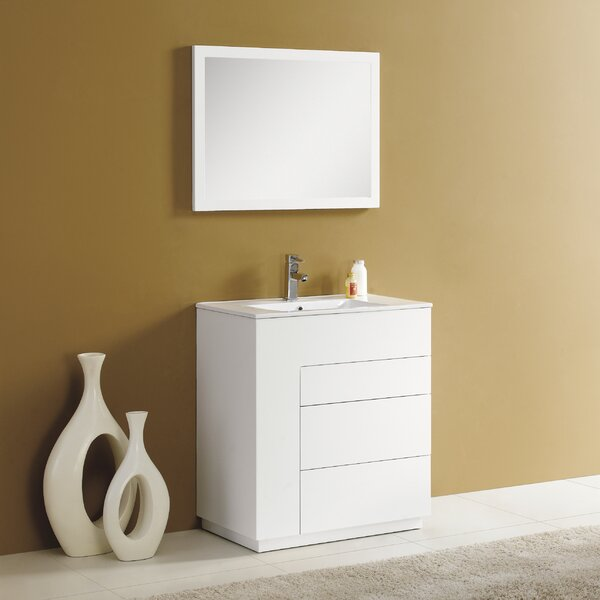 Cosmo 30 Single Vanity Set with Mirror by Adornus