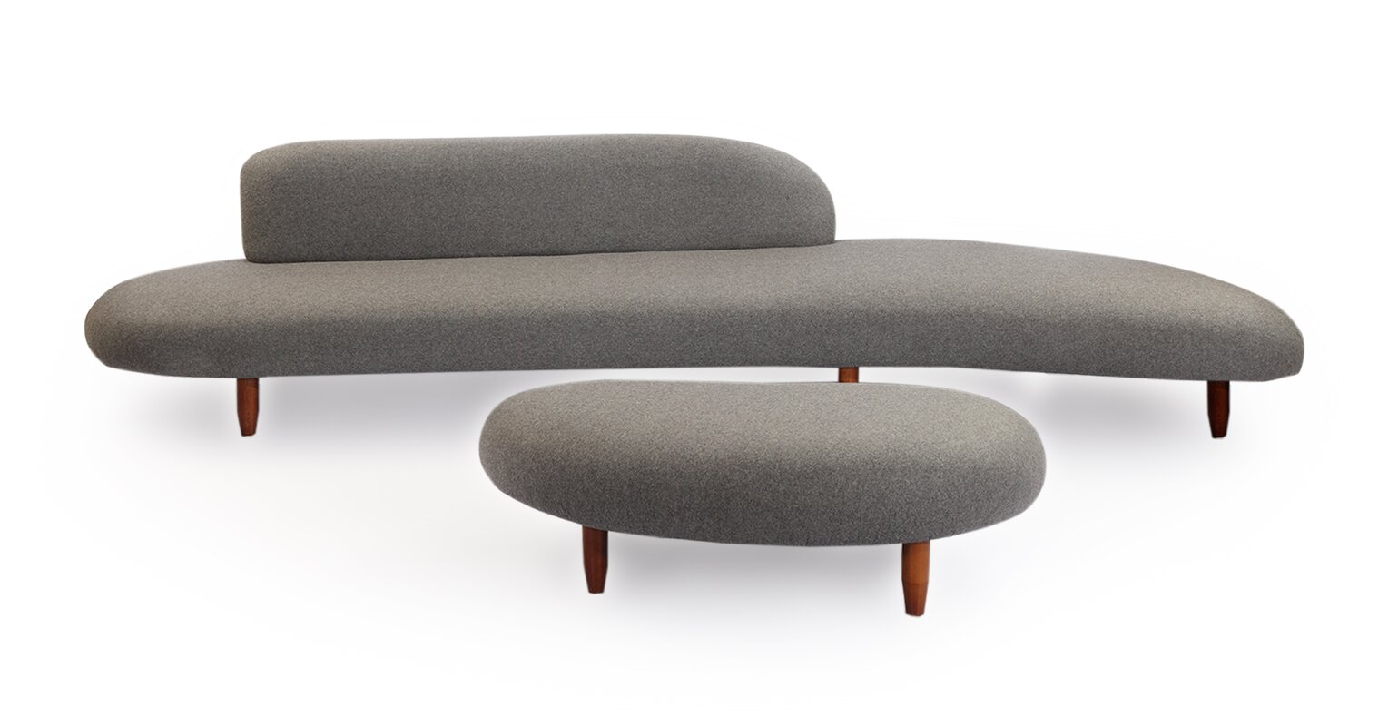 potvin mid century modern sofa and ottoman set. brayden studio potvin mid century modern sofa and ottoman set