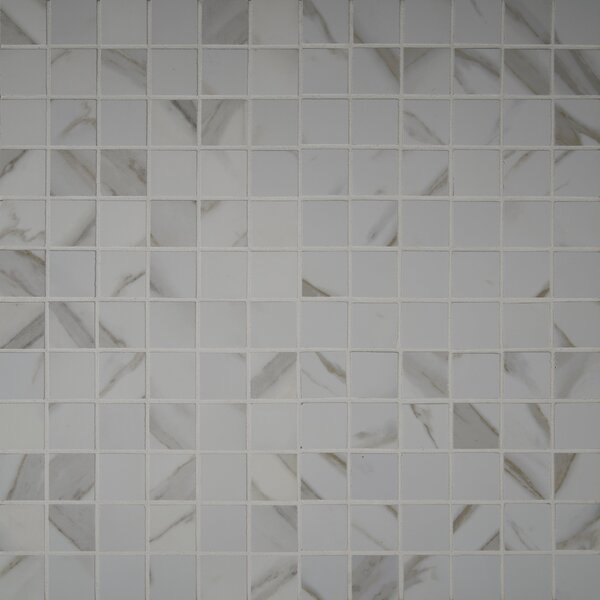 Pietra Calacatta 2 x 2 Porcelain Mosaic Tile in White by MSI