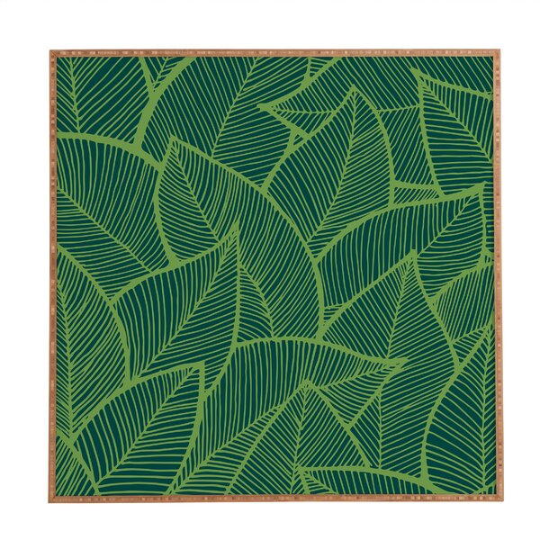 Leaves Framed Graphic Art by East Urban Home
