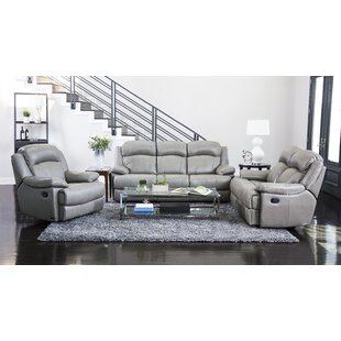 Arbor Glen Reclining 3 Piece Leather Living Room Andover Mills Lovely ...