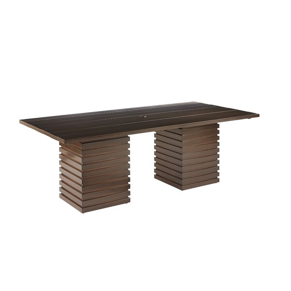 Asphodèle Outdoor Rectangle Dining Table by Gracie Oaks