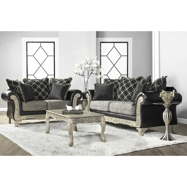 Meachum Ebony Configurable Living Room Set by House of Hampton
