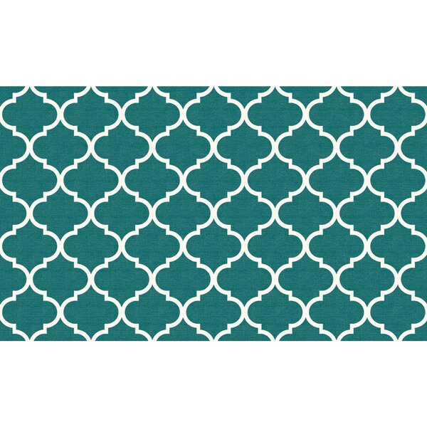 Moroccan Teal Indoor/Outdoor Area Rug by Ruggable