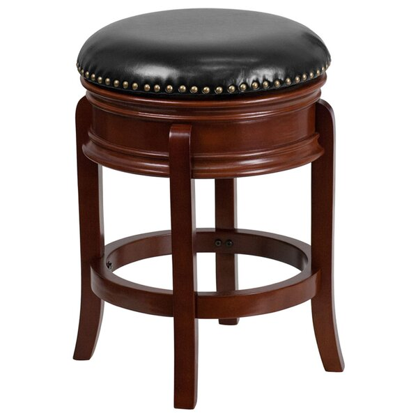 Lafe Backless 25'' Swivel Bar Stool by Charlton Home