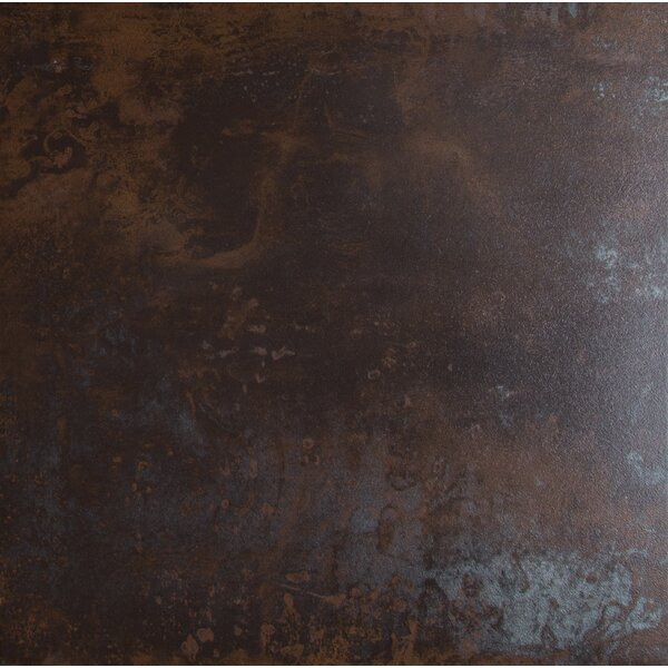 Nickel Antares 20 x 20 Porcelain Metal Tile in Brown by MSI