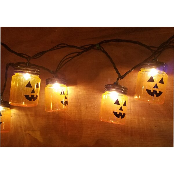 Jar Jack O Lantern String Lights by The Holiday Aisle