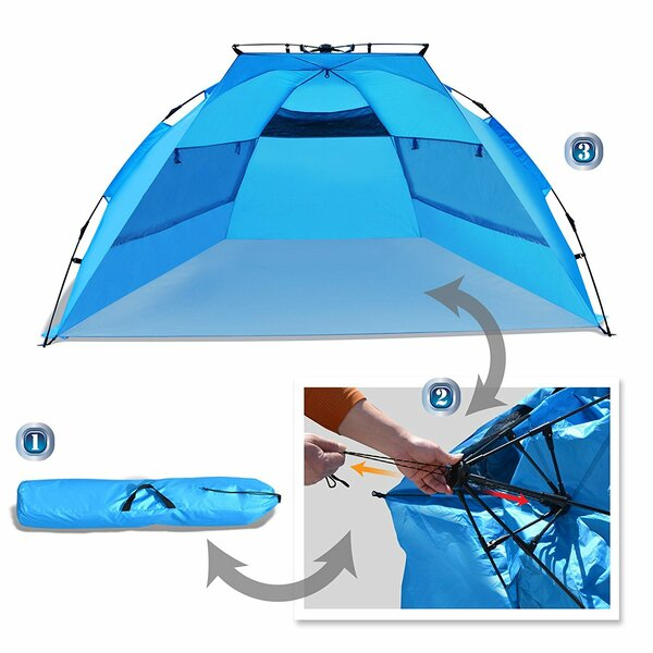 Easy Pop Up Instant Canopy Sun Beach 4 Person Tent by Sunrise Outdoor LTD