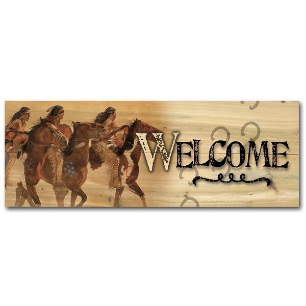 Welcome Hoofbeats and Heartbeats Graphic Art Plaque by WGI-GALLERY