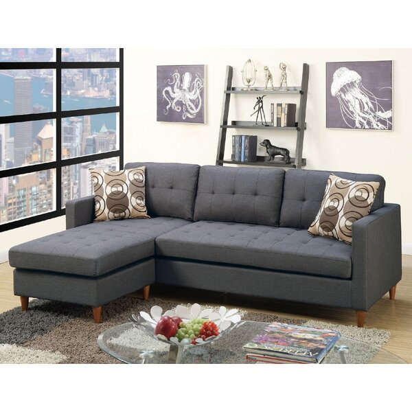 Haskell86-inch  Reversible Sectional By Ebern Designs