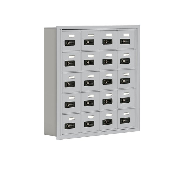 20 Door Recessed Cell Phone Locker by Salsbury Industries20 Door Recessed Cell Phone Locker by Salsbury Industries