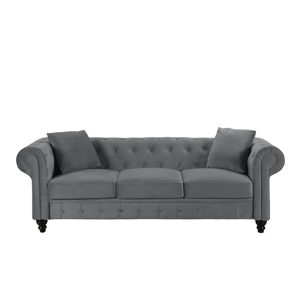 Priced Reduce Mayorga Chesterfield Sofa by House of Hampton by House of Hampton