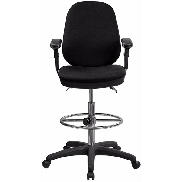Ergonomic 19.25 Multi-Functional Height Adjustable Drafting Chair by Offex