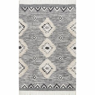 Cawley Hand-Knotted Wool Gray Area Rug by Bungalow Rose