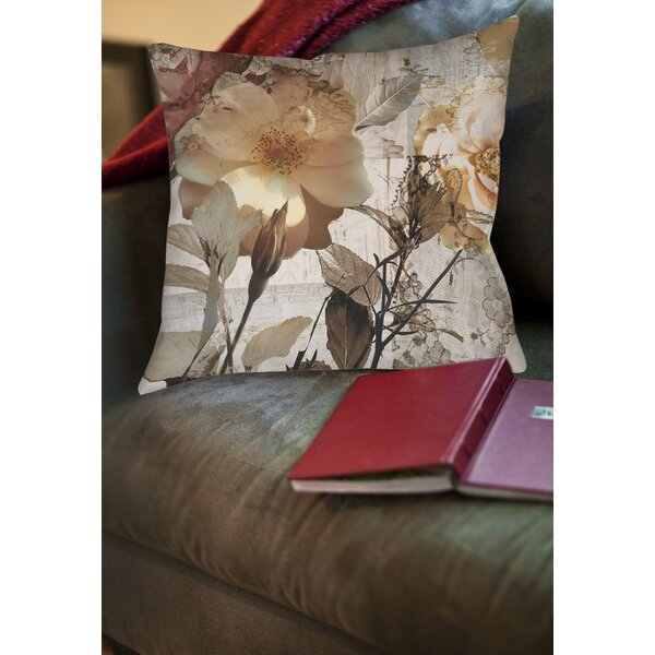 Floral Printed Throw Pillow by East Urban Home