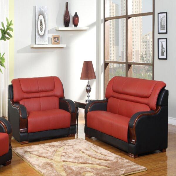 Noel Orren 2 Piece Leather Living Room Set By Red Barrel Studio