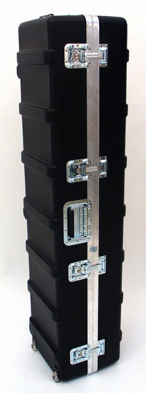 Heavy-Duty ATA Case with Wheels and Telescoping Handle in Black: 13.5 x 54.75 x 12.75