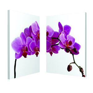Pink Orchid 2 Piece Framed Photographic Print Set by Artistic Bliss