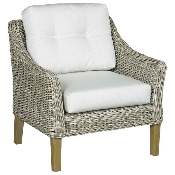 Eaglin Patio Chair with Sunbrella Cushions by Highland Dunes