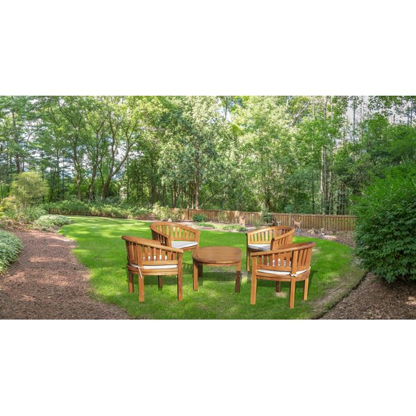 Tovar 5 Piece Teak Sunbrella Multiple Chairs Seating Group With Sunbrella Cushions By Bayou Breeze