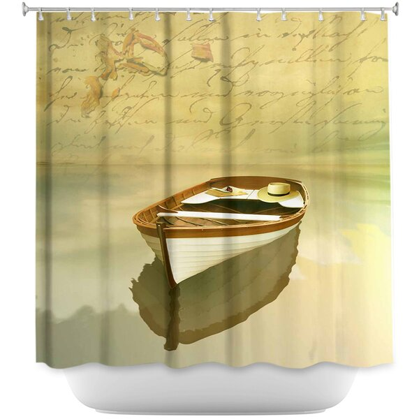 Memories I Boat Shower Curtain by DiaNoche Designs
