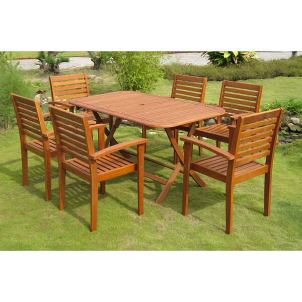 Sabbattus Vilanova 7 Piece Dining Set by Breakwater Bay