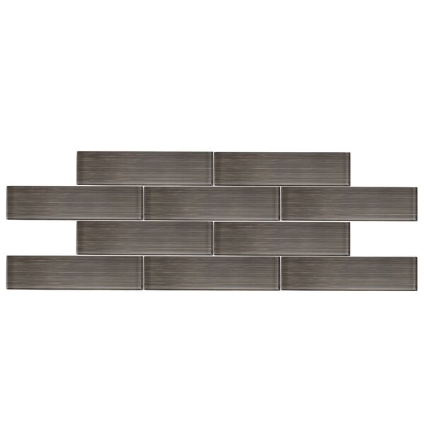 3 x 12 Glass Subway Tile in Taupe Gray by Vicci Design