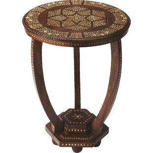 Great Price Ouitchambo Bone Inlay End Table By Bungalow Rose