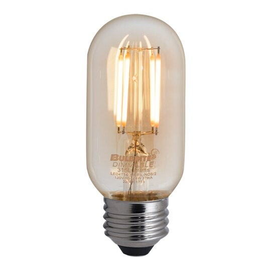 4W E26 Dimmable LED Stick Light Bulb Antique (Set of 4) by Bulbrite Industries